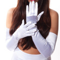 Ivory Satin Opera Gloves 1222