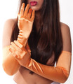 Peach Satin Opera Gloves 1223