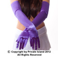 Purple Satin Opera Gloves 1225