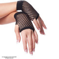 80's Short Fishnet Gloves - Black 1235