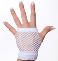 80&#039;s Short Fishnet Gloves - White 1240