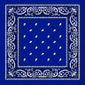 Royal Blue Paisley Bandanna 1920