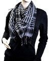 Black And Grey Arab Shemagh Houndstooth Scarf 2073