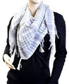 White And Grey Arab Shemagh Houndstooth Scarf 2074