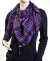 Black And Purple Arab Shemagh Houndstooth Scarf 2078