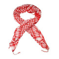 White And Red Arab Shemagh Houndstooth Scarf 2081