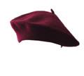 Burgundy Wool Beret 1363