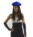Royal Blue Wool Beret 1371