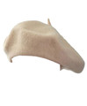 Tan Beige Beret Wool 1372