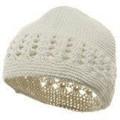 White Kufi Crochet Beanies 1471