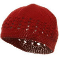 Red Kufi Crochet Beanies 1472