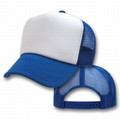 Royal Blue And White Mesh Trucker Cap 1458