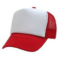 Red And White Mesh Trucker Cap 1460