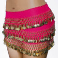 Hot Pink Bellydance Gypsy Scarf 2060