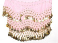 Light Pink Bellydance Gypsy Scarf 2062