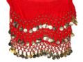 Red Bellydance Gypsy Scarf 2161