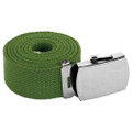 Military Belt Canvas Adjustable Green 2215