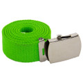 "Neon Green Canvas Belt Adjustable Lime Green Adjusts to 44-46"" Size 2217"