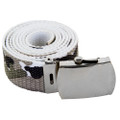 White Camo Canvas Adjustable Belt 2224
