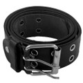 Black Punk Two Rows Metal Holes Belt 2428-2431
