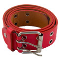 DOZEN Red Punk Two Rows Metal Holes Belts Mix Sizes 2444A