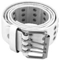 Punk Belts Three Rows Metal Holes White Mix Sizes DOZEN 2476A