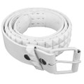 White Punk Belts Wholesale | Studded Mix Sizes DOZEN 2492A