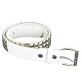Punk Belts Silver Studded White Mix Sizes DOZEN 2508A