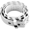 White and Black Checkerboard Studded Belts - White Mix Sizes 2516A