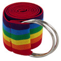 Rainbow Stretch D-Ring Belt 2681