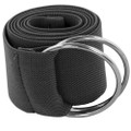 Dark Grey Stretch D-Ring Belt 2686