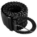 Black Diva Wide Braided Belt 2739-2741