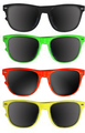 DOZEN Wayfarer 80's Style Sunglasses Mixed Colors 1050