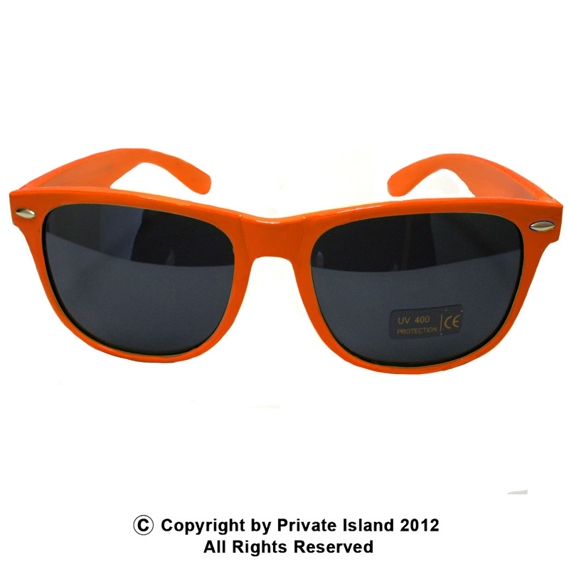 orange sunglasses wayfarer orange 1053 private island party