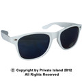 White Wayfarer Style Sunglasses 1058