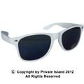 White Wayfarer Style Sunglasses 1058