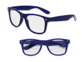 Blue with Clear Lens 80s Styles Sunglasses 1082