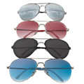 DOZEN Aviator Style Police Sunglasses Mixed Colors 1100