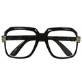 Rapper Style Black Frame/Clear Lens Sunglasses 1145