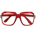 Rapper Style Red Frame/Clear Lens Sunglasses 1146