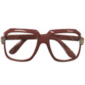 Rapper Style Brown Frame/Clear Lens Sunglasses 1148