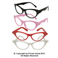 DOZEN Cat Eye Glasses With Stones Mixed Colors 1188