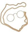 Gold Pince Nez Glasses an Chain 1197