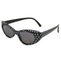 Black Retro Cat Eye Polka Dot Sunglasses 7081