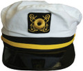 Captain Yacht Hat with Yellow Band 1342