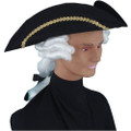 Colonial Tricorn Hat with Wig Adult 1522