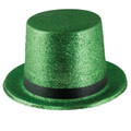 Mardi Gras Hunter Green Glitter Top Hat 5871