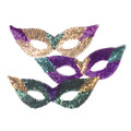 DOZEN 12PK Sequin Cat Eye Mardi Gras Masks 1830