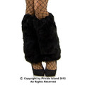 Black Furry Leg Warmers 6750