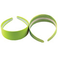 80&#039;s Neon Green Satin Headband 6669